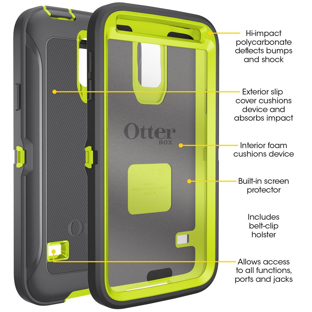 OtterBox Samsung Galaxy S5 Defender Case, Aqua Sky (77-39168): Amazon ...