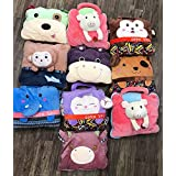 "ShopyBucket Cute Animal Face Super Soft Velvet Covering Baby Bag Cum Blanket Size 42 X 56""(Item Will Be Shipped..."