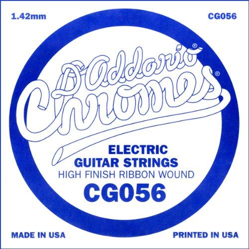 D'Addario Cg056 Flat Wound Electric Guitar Single String, .056