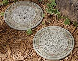 Pack of 4 Joseph's Studio Irish Blessing Celtic Knot Garden Stepping Stones 11""
