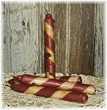 Primitive Scented Hand Poured Grungy Candles (Candy Cane, Tapers)