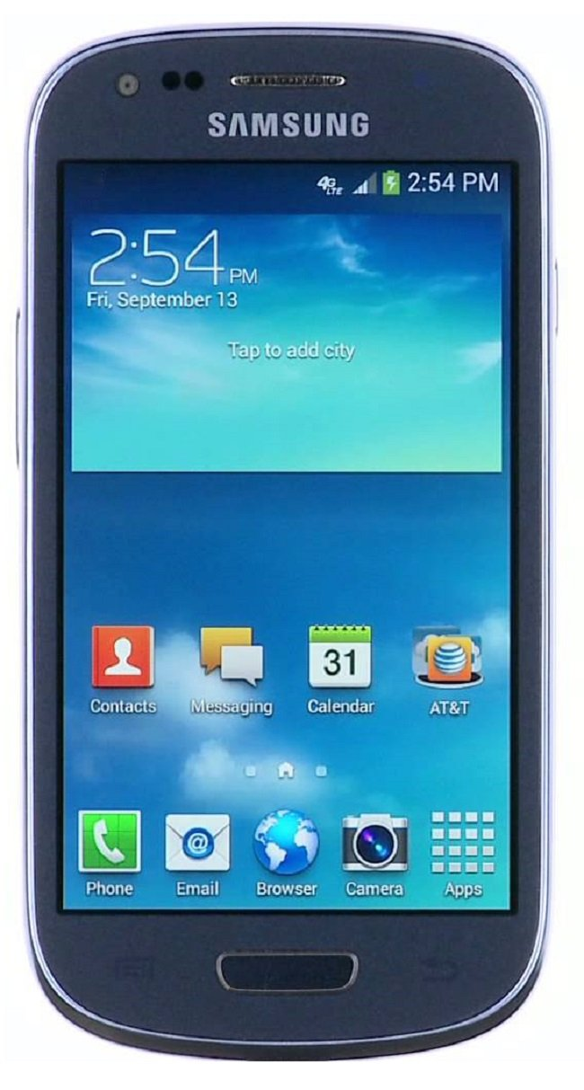 Buy Now Pay Later Samsung Galaxy S3 Mini 4G LTE at&t Unlocked GSM Android Smart Phone-Blue