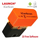 Launch iCarScan Auto Diagnostic Tool OBD OBDII Engine Scanner Full System For Android iOS Obd2 Bluetooth Adapter Replacement of X431 IDIAG Easydiag M-diag With 10 Software Update Online