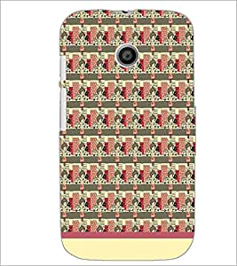 PrintDhaba Pattern D-1548 Back Case Cover for MOTOROLA MOTO E (Multi-Coloured)