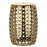 Lacey Plated Gold Patio Stool