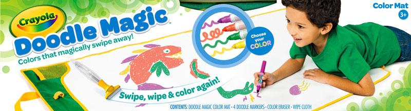 Amazon Com Crayola Doodle Magic Color Mat Toys Amp Games