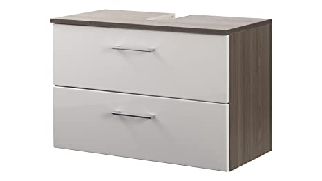 "Held Möbel Marinello ""Bathroom Vanity Unit weiß, eiche"