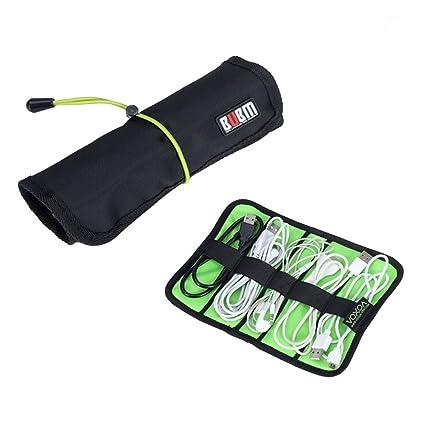 Tinksky Portable cavi multi-funzionale stoviglie da toeletta penne Nylon morbido Roll-up di Storage Bag organizzatore di viaggi - taglia S (nero)