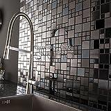 piastrelle mosaico in inox cucina e bagno mi-oke