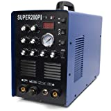 TIG/MMA/CUT Welding Machine AC/DC Aluminum Steel IGBT 7-IN-1 Welder 200A Plasma Cutter SUPER200PI (Color: Blue, Tamaño: Large)
