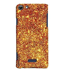 Omnam fire Crystal Sand printed back cover for Micromax Selfie 3 Q348