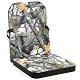 NEP Outdoors Original Folding THERM-A-SEAT Hunter Cushion Tree Stand, Bottom: 13 x 14-Inch Wide x 1.5-Inch Thick - Back: 18 x 14-Inch Wide x 3/4-Inch Thick, Invision Snow Camo