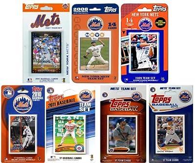MLB New York Mets 7-Different Licensed Trading Card Team Set
