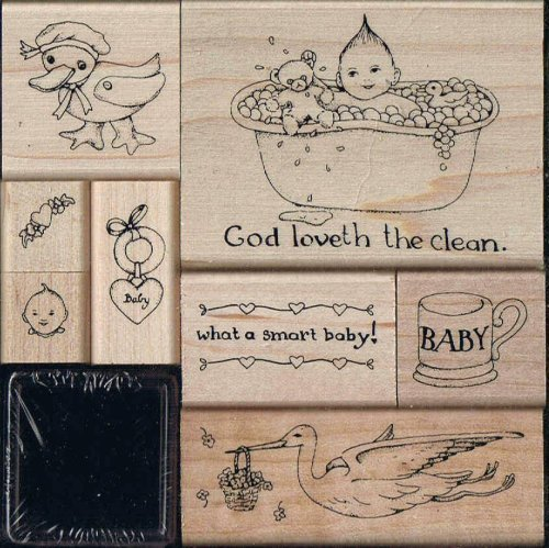 Susan Branch - Baby Rubber Stamp Kit - 1