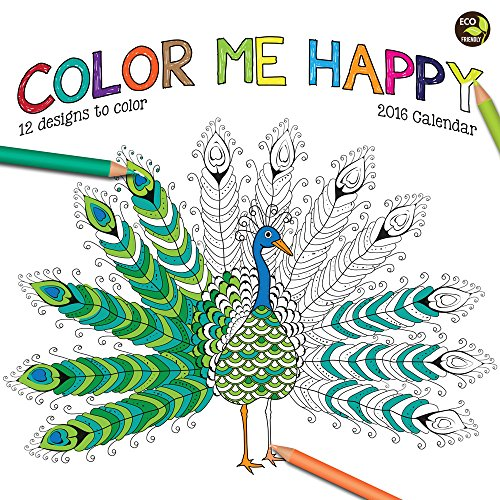 2016 Color Me Happy Wall Calendar - TF Publishing