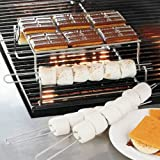 Stainless Steel Smores Grill Rack Platform and 4 Skewers Smokin Grill