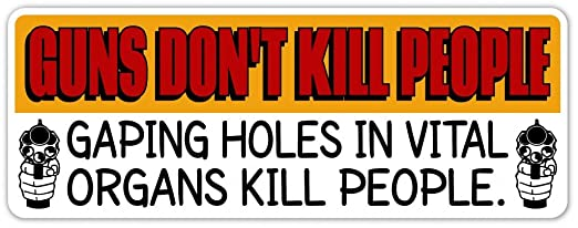 Funny Bumper Stickers Amazon Pro Gun Funny Bumper Sticker