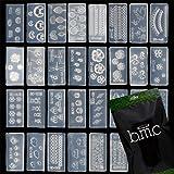 BMC Mix Design DIY 3D Silicone Nail Art Decortive Acrylic Cabochon Mold Kit - Set 4, 30pc Kit 3