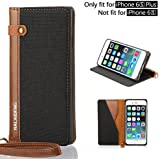 IPhone 6S Plus Case 5.5 Inch, IPhox [Cowboy]Wallet Case ID Credit Card Cash Slots Premium PU Leather Case With...