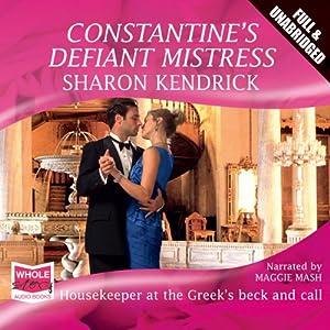 Constantine's Defiant Mistress Audiobook