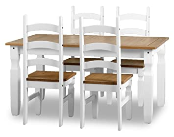 ValuFurniture Corona Dining Set - Table and 4 Chairs - White