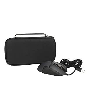 Aproca Hard Travel Storage Case Compatible with Logitech G502 Proteus Spectrum RGB Tunable Gaming Mouse(Black-Large.) (Color: black-large)