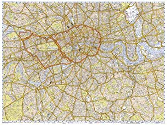 A-Z Central London Flat Encapsulated Wall Map