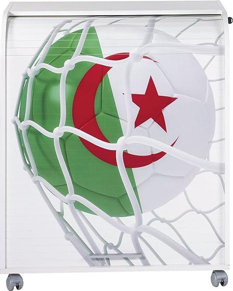 Simmob MUST095BL962 Algérie 962 Ballon Coupe du Monde Meuble Informatique Bois Blanc 53,2 x 79,2 x 93,8 cm