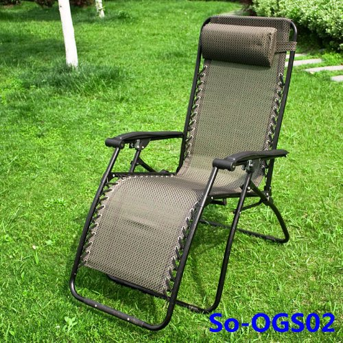 chaise longue de jardin chaise de camping transat m tal et toile repose pieds fauteuil relax. Black Bedroom Furniture Sets. Home Design Ideas