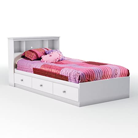 Crystal Twin Mate's Bed & Bookcase Headboard