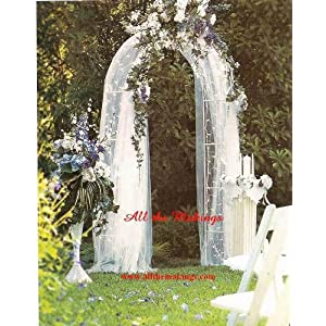 wedding reception decoration ideas, lighted wedding arch