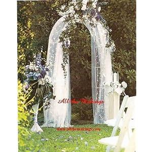 wedding reception decoration ideas, lighted wedding arch
