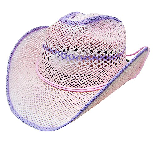 modestone-womens-cool-summery-straw-hat-pink