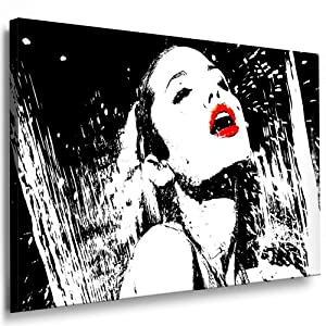 angelina jolie leinwand bild 100x70cm k poster bild fertig auf keilrahmen pop art gem lde. Black Bedroom Furniture Sets. Home Design Ideas