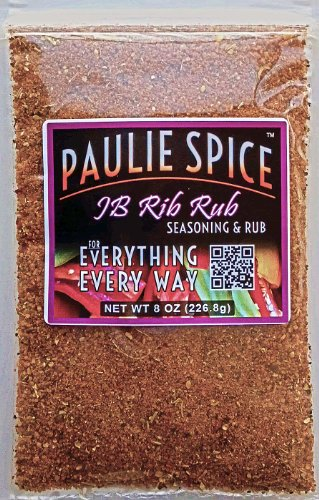 Paulie Spice : Sweet And Smoky BBQ Rib Rub And Seasoning : Amazing On Ribs, Chicken And Pork : 8 Oz.