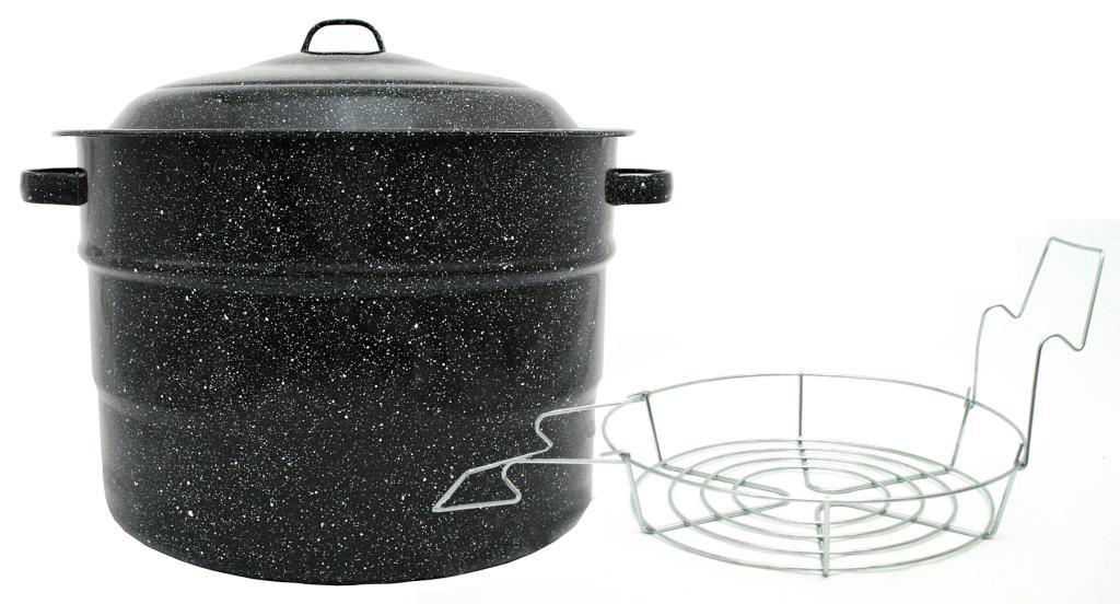 Kitchen cooking porcelain 21 5 quart canner cook food outdoor ebay