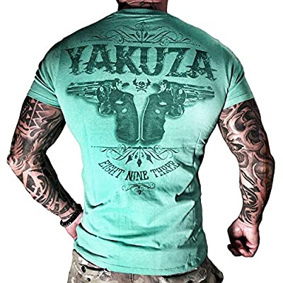 Yakuza T-Shirt Herren Round Neck TSB 674 Daily Use - Two Colts turquoise - Special Collection 2015