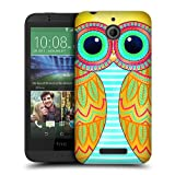 Head Case Designs Yellow Owls Illustrated Protective Snap-on Hard Back Case Cover for HTC Desire 510