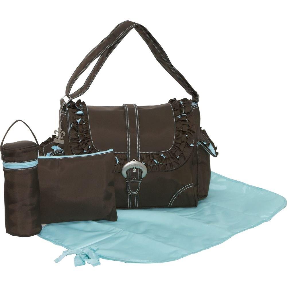 Kalencom Chocolate and Blue Miss Prissy Buckle Bag