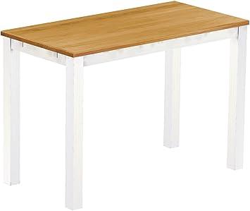 Brasil High Table 'Rio' 200x 80cm Solid Pine Wood Honey Colour–White