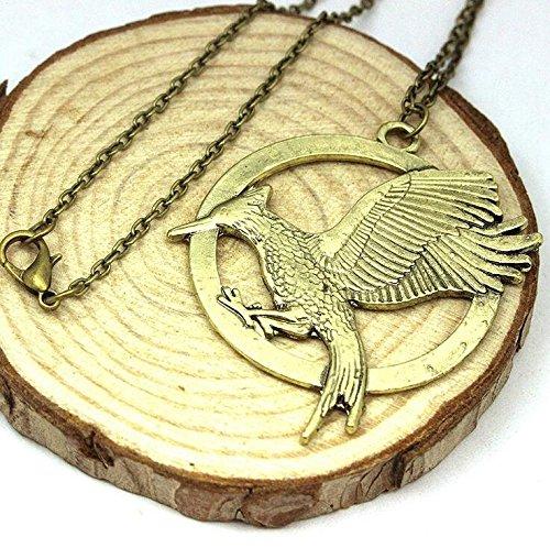 [Hunger Games Mocking Bird Pendant Necklace Movie Merchandise] (Katniss Everdeen Capitol Costume)