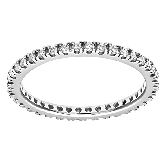 Naava 9ct White Gold 0.36ct Diamond Full Eternity Ring