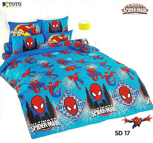 Ultimate Spider-Man Bed Fitted Sheet Set Toto Sd17 King & Queen Size (King, Sd17) front-1077043