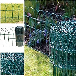 NEW 10M X GREEN PVC COTTED COATED WIRE NETTING GARDEN FENCE FENCING MESH
