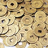 """50pcs Feng Shui I-ching Coins Fortune Coin Dia:20mm (0.8"""") W Free Fengshuisale Red String Bracelet"""