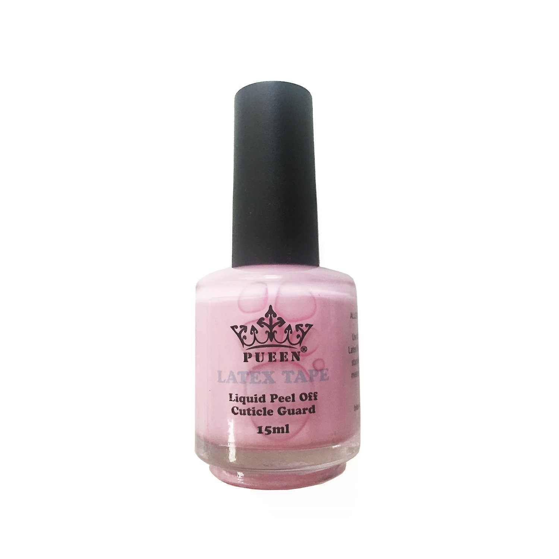 PUEEN Latex Tape Peel Off Cuticle Guard Skin Barrier Protector Nail Art Liquid Tape 15ml Pink BH000584