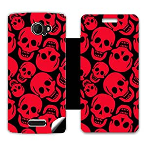 Phone Candy Designer Flip Cover with hi-res printed Vinyl sticker wrap-around for Micromax A121