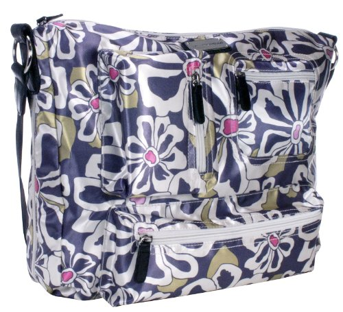 Amy Michelle Iris Diaper Bag, Charcoal Floral (Discontinued by Manufacturer)