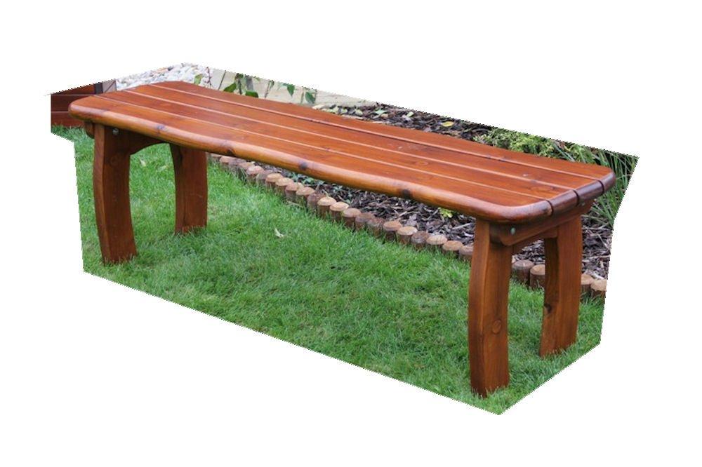 """Massivholz Gartenbank """"Lorit 2"""" , Kiefer , unlackiert , B 155 cm , Holzstärke : 42 mm ! günstig"""