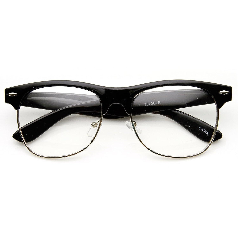 Rimless Fashion Glasses Clear Frame Semi Rimless Clear